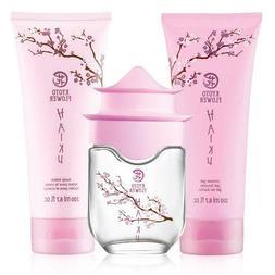 Avon Haiku Kyoto Flower 3 Pc Set Perfume Spray 1.7 Body Loti