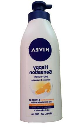 NIVEA Happy Sensation Body Lotion 16.9 Fluid Ounce