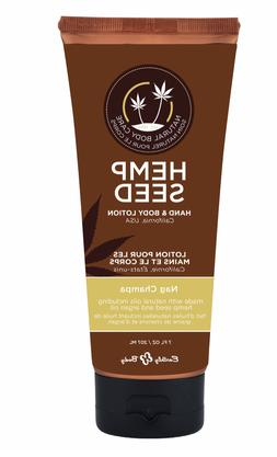 hemp seed hand and body lotion - nag champa 7 ounce