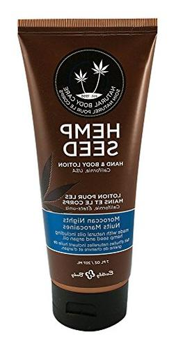 Earthly Body Hemp Seed Hand & Body Velvet Lotion 7oz Tube -