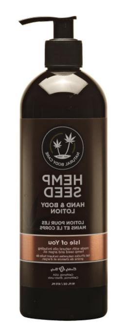 Earthly Body Hemp Seed Lotion-Isle of You 16 oz