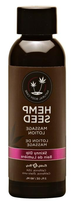 Earthly Body Hemp Seed Massage Lotion 2oz Skinny Dip - Condi