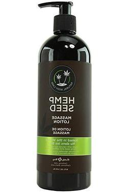 Earthly Body Hemp Seed Massage Lotion Naked in the Woods 8oz