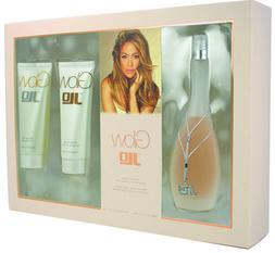 J Lo Glow Gift Set 3.4 oz EDT Spray + 2.5 oz Body Lotion + 2