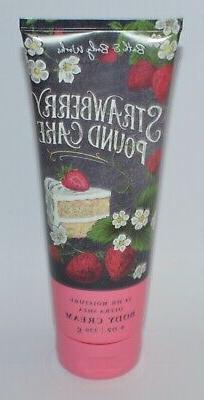 1 BATH & BODY WORKS STRAWBERRY POUND CAKE ULTRA SHEA CREAM L