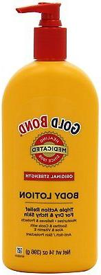 14oz Gold Bond Medicated Body Lotion Pump Bottle Anti-Itch/S