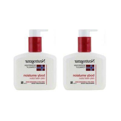 2 bottles norwegian formula body emulsion lotion