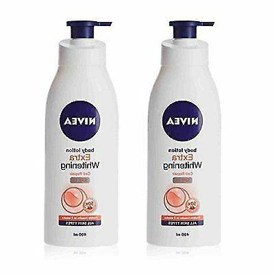 2 × Lots X Nivea Extra Whitening Cell Repair Body Lotion SP