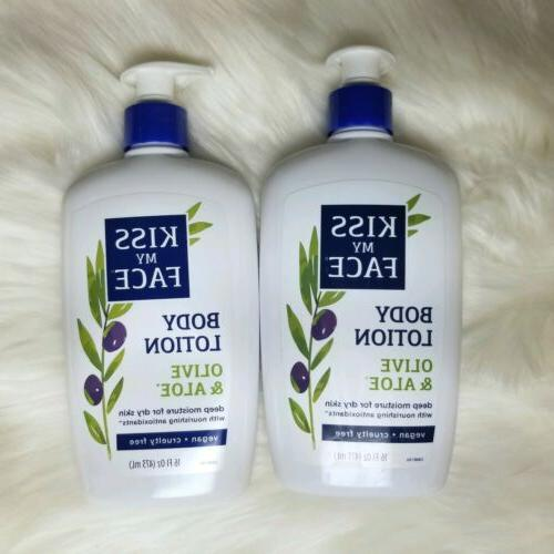 2 x olive and aloe body lotion