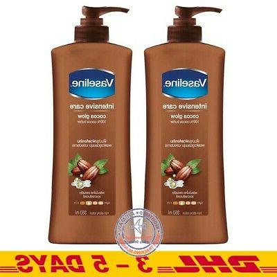 350 ml  1 Bottle Vaseline Intensive Care Cocoa Glow Non-Stic