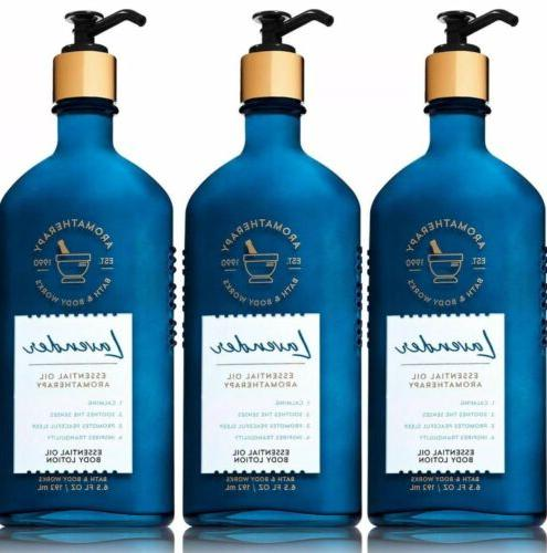 3x bath and body works aromatherapy lavender