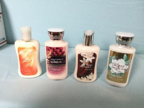 4 bath and body works body lotion
