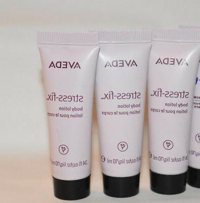 4x Aveda stress-fix body lotion .34 oz each