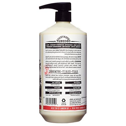 Alaffia Body Normal Dry Skin, Helps Moisturize and Protect Oxidation Coffee Berry and Trade, Coconut Berry, 32