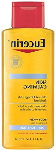 Eucerin Dry Skin Calming Body Wash Oil, 8.4 Fl Oz