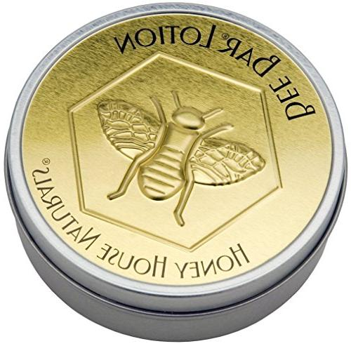 Honey House Naturals Bee Bar, Vanilla, Large, 2 Ounce