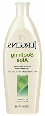 Jergens Soothing Aloe Refreshing Body Moisturizer, 10 Ounces