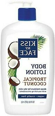 Kiss My Face Deep Moisturizing Body Lotion Tropical Coconut