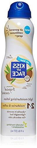 Kiss My Face Moisturizing Spray Lotion, Tropical Coconut Oil