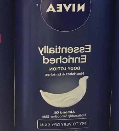 Lot If 3 16.9oz NIVEA Body Lotion Almond Oil