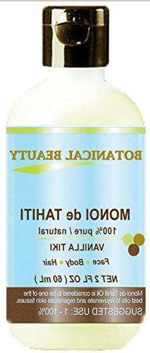 MONOI DE TAHITI Oil VANILLA TIKI. 100% Pure / Natural / Undi