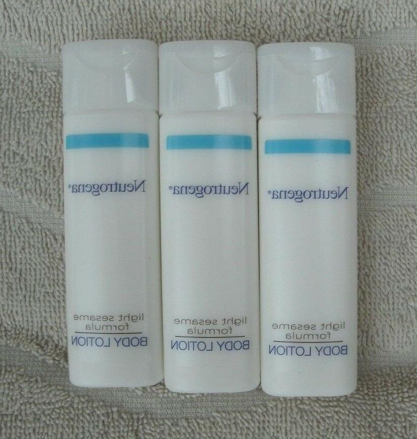 "Neutrogena Travel Size Body Lotion ""light Sesame Formula"" ~"