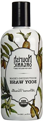 Nourish Organic Moisturizing Cream Body Wash, Almond Vanilla
