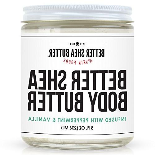 Peppermint Butter - Scented Essential and Non-Greasy, Absorbs Shea