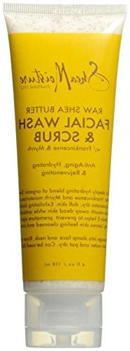 SheaMoisture Raw Shea Butter Facial Wash & Scrub, 4 Ounce