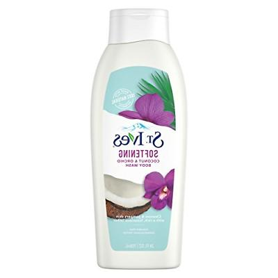 St. Ives Soft and Silky Body Wash, Coconut and Orchid 24 Oz