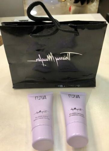 alien radiant body lotion and shower gel