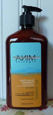 argan oil body and face moisturizer lotion