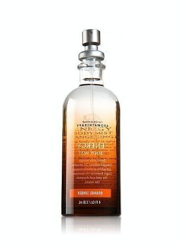 aromatherapy energy orange ginger