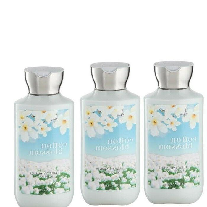BATH AND BODY WORKS Set Of 3  Cotton Blossom Body Lotion 8oz