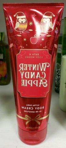Bath & Body Works Winter Candy Apple Ultra Shea Body CREAM l