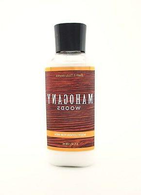 Bath Body Mahogany Woods Lotion Men 8oz Hand Cream Shea E