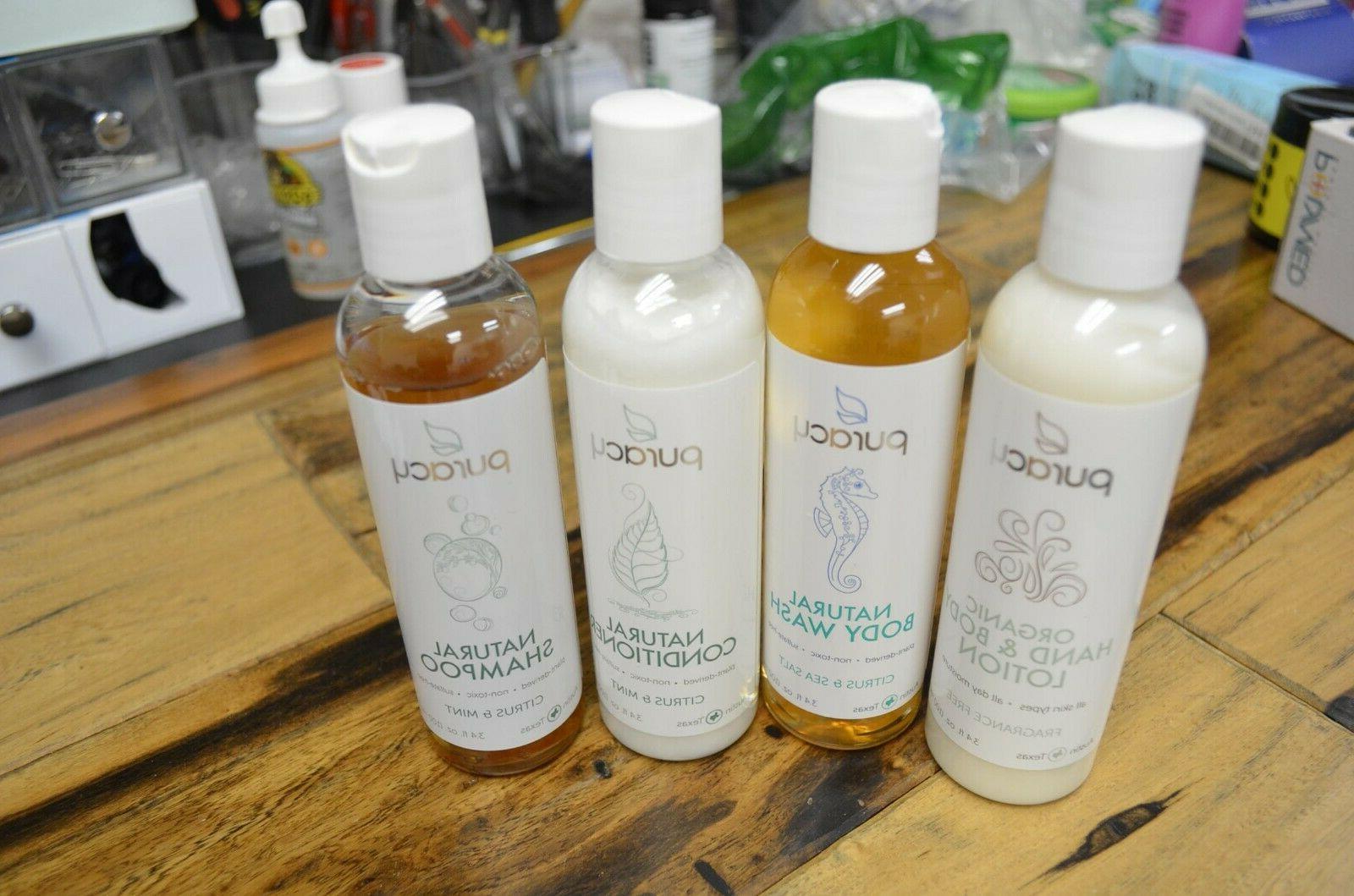 Puracy Body Wash, Lotion, Conditioner, Shampoo Citrus & Sea