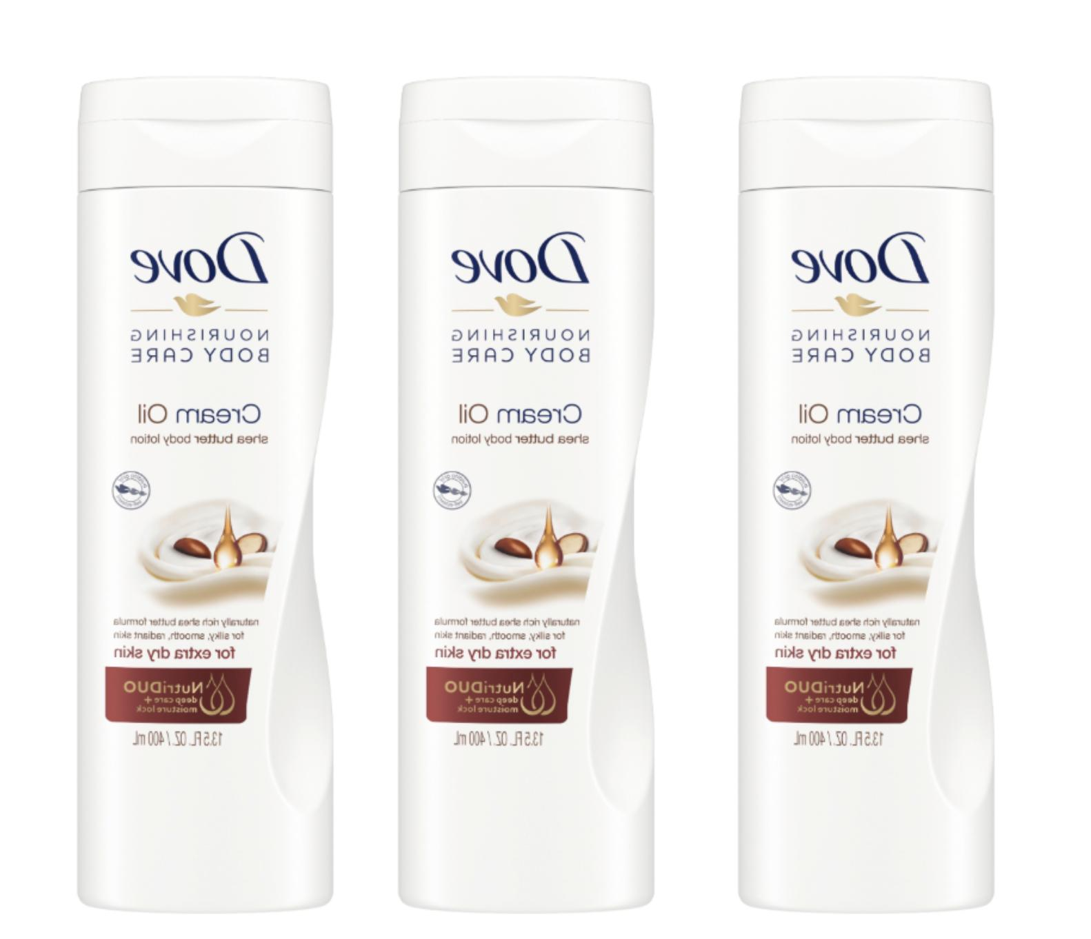 Dove Cream Oil Shea Butter Body Lotion, 13.5 Ounce, 3 Count