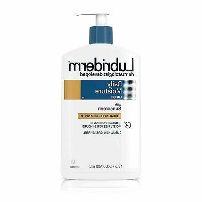 Lubriderm Daily Moisture Lotion SPF 15 - 13.5 oz, Pack of 2