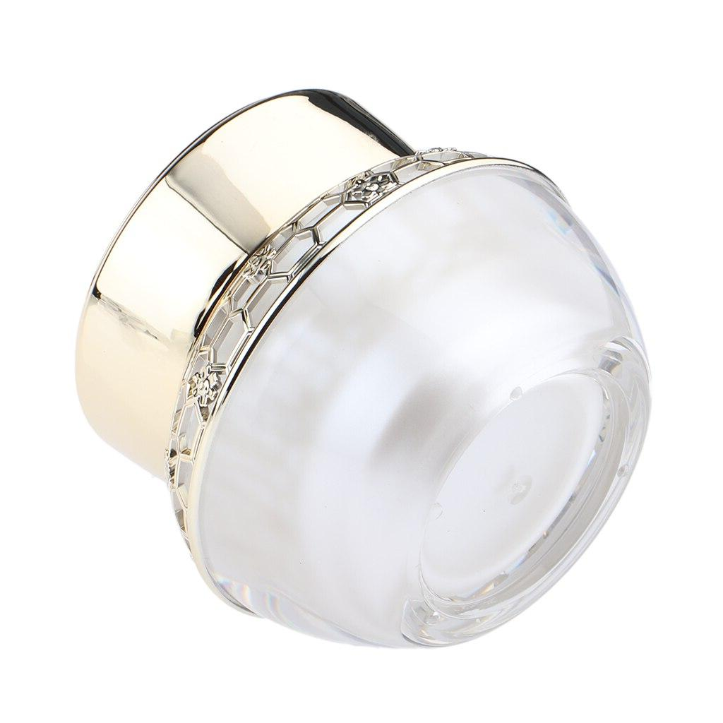 empty acrylic jar with lids refillable round