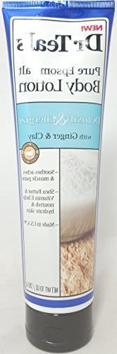Dr. Teal's Pure Epsom Salt Body Lotion, Detoxify & Energize,