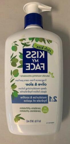 KISS MY FACE Fragrance Free Olive & Aloe Deep Moisturizing B