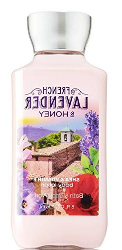 Bath and Body Works French Lavender Honey Lotion 8 Ounce Ful