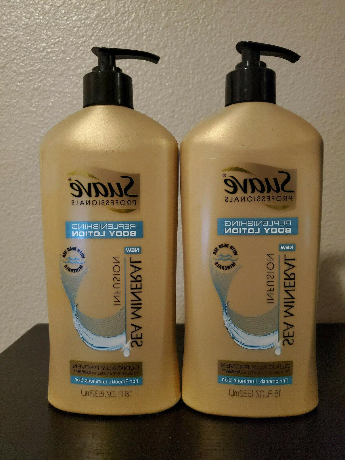Suave Gold Professionals Body Lotion, Sea Mineral Infusion,