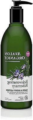 Avalon Organics Anics Lotion H&B Rosemary, 12 oz