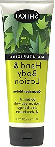 Shikai All Natural Hand And Body Lotion Cucumber Melon - 8 f