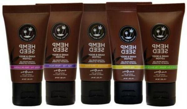 hemp seed body and hand lotion moisturizer