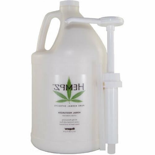 Hempz Herbal Moisturizer Lotion Gallon After Tan with Pump