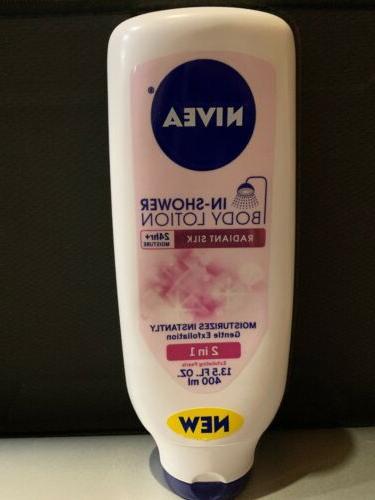 Nivea In-Shower Lotion Radiant 13.5 fl oz new