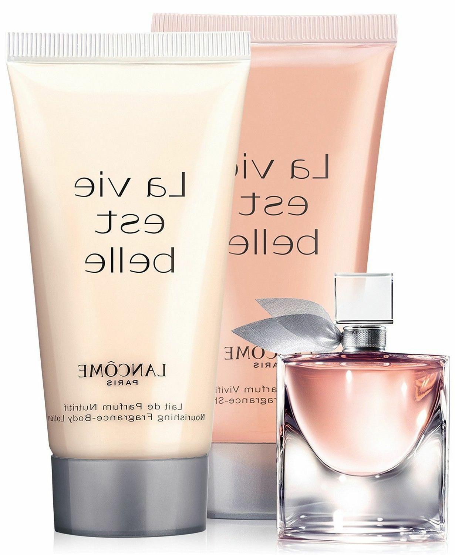 Lancome La Vie Est Belle Gift Set Eau De Parfum, Body Lotion